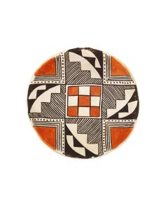 "Acoma Polychrome Plate c. 1940s, 1.125"" x 4.5"" (P3382)"