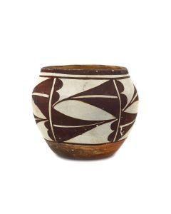 "Acoma Polychrome Jar c. 1930s, 3.75"" x 4.5"" (P3432)"