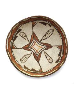 """Zuni Polychrome Bowl c. 1900s, 2.5"""" x 6"""""""