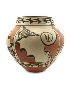 """Sofia Medina (1932-2010) - Zia Polychrome Jar c. 2000s, 8.75"""" x 9.5"""" 1"""