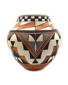 "Gladys Sratyu'we Paquin (b. 1937) - Laguna/Zuni Polychrome Vase 1996, 8.75"" x 9"""