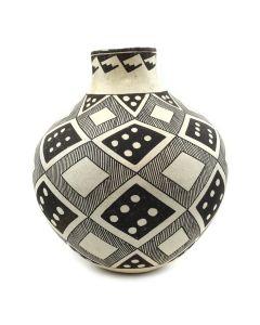 """Lucy Lewis (1898-1992) - Acoma Fine Line Vase c. 1966, 10"""" x 8"""""""