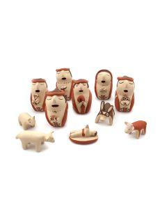 Judith Toya (b. 1953) - Jemez Polychrome Nativity Set (11 Pieces) c. 1970s (P90433A-0821-001)