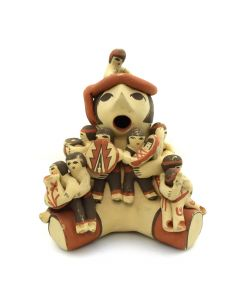 "Judy Toya - Jemez Storyteller Figurine c. 1970s, 6.5"" x 5.5"" x 4.5"""