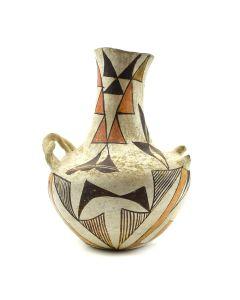 "Acoma Polychrome Vase c. 1890s, 7.5"" x 5.5"""