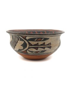 "San Ildefonso Polychrome Bowl c. 1900s, 4.5"" x 9.5"" (P90802A-079-119)"