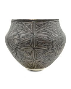 "Sarah Garcia (1928-2015) - Acoma Fine Line Jar c. 1980s, 6.5"" x 7"""