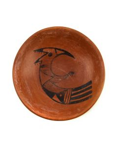 "Hopi Redware Plate c. 1930-40s, 1.25"" x 4"""