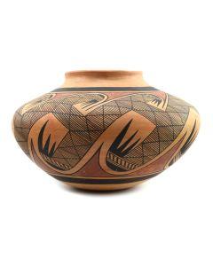"Lot 276 - Nampeyo Family - Major Hopi Polychrome Jar with Migration Pattern c. 1930s, 9"" x 13"" (P91051-0719-047)"