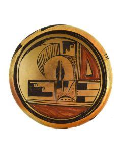 """Hopi Polychrome Bowl c. 1920s, 2.25"""" x 6.25"""""""