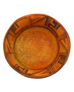"""Pollaca/Hopi Polychrome Dough Bowl c. 1880-90s, 4.75"""" x 11.25"""" (P91138A-0120-039)"""