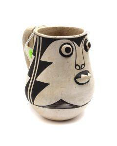 """Jessie Garcia - Acoma Mug c. 1950s, 5"""" x 3.5"""" x 5"""" (P91140A-0220-003)"""
