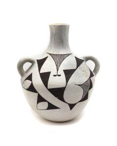 "Mary Antonio - Acoma Vase with Handles c. 1950s, 7"" x 6"" (P91140A-0220-006)"