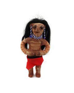 "Mojave Redware Doll c. 1940-50s, 8.25"" x 4.5"" x 2"" (P91331B-0615-054)"