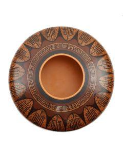 """Stetson Setalla (b. 1962) - Hopi Contemporary Polychrome Jar, 4.25"""" x 8.5"""" (P91369B-0321-003)"""