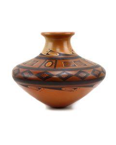 "Stetson Setalla (b. 1962) - Hopi Contemporary Redware Vase, 7.5"" x 9"" (P91369B-0321-004)"