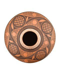 "Calvin Analla, Jr. - Laguna Jar with Geometric Designs c. 2004, 7.25"" x 7.5"""