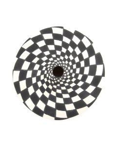 "Dorothy Torivio - Acoma Seed Jar with Checkered Design c. 1990-2000s, 1.25"" x 2.5"""