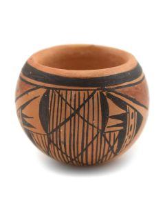 "Priscilla Namingha Nampeyo - Hopi Polychrome Bowl c. 1990-2000s, 1.125"" x 1.5"""