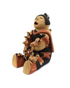 "Caroline Loretto Seonia - Jemez Storyteller Figurine c. 1980s, 8"" x 5"" x 6.5"""
