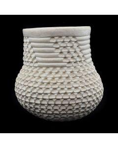 """Stella Shutiva (1939-1997) - Acoma Corrugated Jar c. 1960s, 6"""" x 5.5"""""""