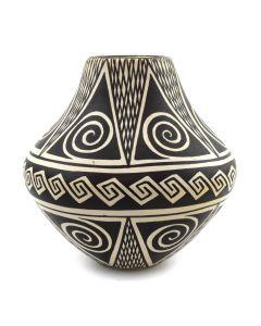 """Sylvia Naha (1951-1999) - Hopi Vase with Spiral Designs c. 1970s, 5.25"""" x 5"""""""