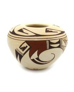 """Grace Navasie - Hopi Polychrome Jar c. 1980s, 1.75"""" x 2.5"""""""