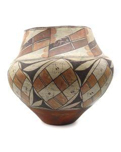 "Acoma Four-Color Polychrome Pot c. 1890s, 10.25 x 11.5"" (P91924-0913-015)"