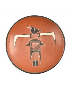 "Garnet Pavatea (1915-1981) - Hopi Bowl with Thunderbird Design c. 1950-60s, 2.25"" x 12"""