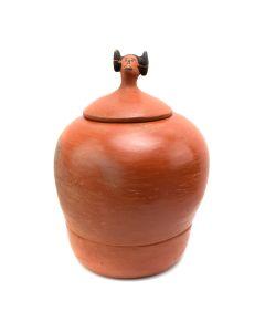 "Norma Nayatewa - Hopi Maiden Lidded Jar c. 1950s, 11"" x 8"" (P91950B-0413-006)"
