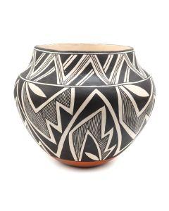 """Lucy Lewis (1898-1992) - Acoma Jar c. 1960-70s, 6.75"""" x 8"""" (P91973C-0220-001)"""