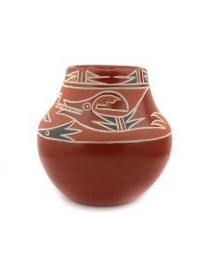 "Nicolasa Naranjo (1907-2002) - Santa Clara Polychrome Jar with Avanyu Design c. 1960s, 6.25"" x 6.5"" (P91991C-0721-001)"