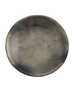 "Maria Martinez (1887-1980) - San Ildefonso Gunmetal Plate c. 1960s, 5"" diameter"
