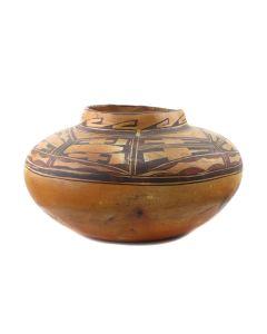 "Attributed to Old Lady Nampeyo of Hano (1856-1942) - Large Hopi Polychrome Jar c. 1900s, 8.25"" x 14"" (P92336-0821-004)"
