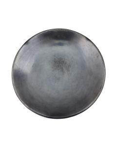 "Maria Martinez (1887-1980) - San Ildefonso Black Plate c. 1950-60s, 1.75"" x 10.625"" (P92348A-0621-151)"