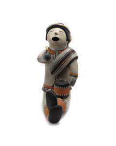 "Helen Cordero (1915-1994) - Cochiti Drummer Pottery Figurine, c. 1970, 11"" x 4"" x 7.5"""
