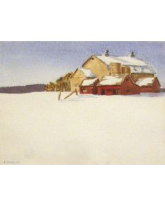 SOLD Edith Hamlin (1902-1992) - Red Barn
