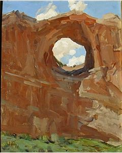 SOLD Frank Tenney Johnson (1874-1939) - Canyon Arches #770