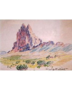 x SOLD Warren E. Rollins (1861-1962) - Shiprock