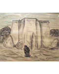 SOLD Emil Bisttram (1895-1976) - Rancho de Taos