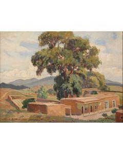 SOLD Cornelius Botke (1887-1954) - Galisteo, New Mexico