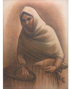 Edith Hamlin (1902-1992) - Portrait of A Woman (PDC1116)