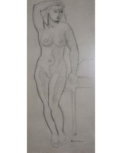 Doel Reed (1895-1985) - Nude with Table