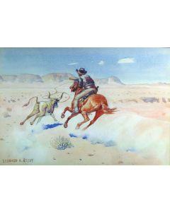 SOLD Leonard Reedy (1899-1956) - Roping the Steer
