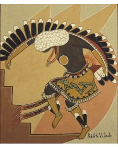 SOLD Pablita Velarde (1918-2006) - Pueblo Dancer