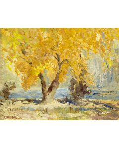 SOLD Fremont Ellis (1897-1985) - Cottonwood on the Rio Grande