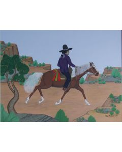 SOLD Pablita Velarde (1918-2006) - Navajo Rider