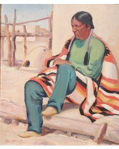 SOLD Ila Mae McAfee (1897-1995) - Hunting Wind Taos