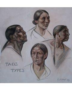 SOLD Joseph Imhof (1871-1955) - Taos Types