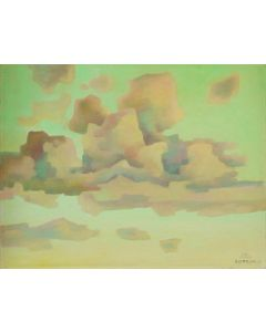 SOLD Emil Bisttram (1895-1976) - Evening Clouds